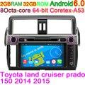 Android 6.0 Octa Núcleo Do Computador Do Veículo Rádio de Áudio Estéreo Do Carro DVD Player para Toyota Land Cruiser Prado 150 LC150 2014 2015 2016
