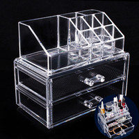 Acrylic Cosmetic Organizer Storage Box For Jewelry Container Organizer With Drawer Toiletry Makeup Storage Box Holder