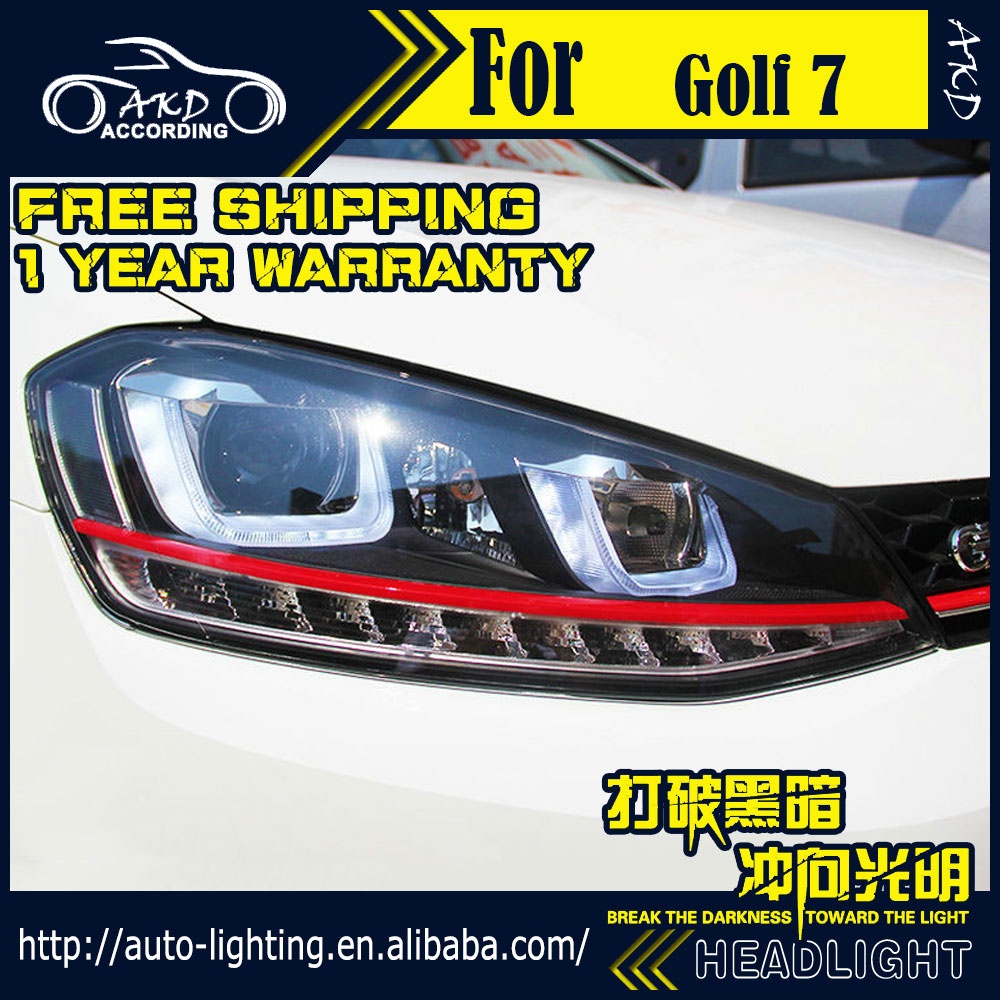 car styling head lamp for vw golf 7 gti led headlight 2013. Black Bedroom Furniture Sets. Home Design Ideas