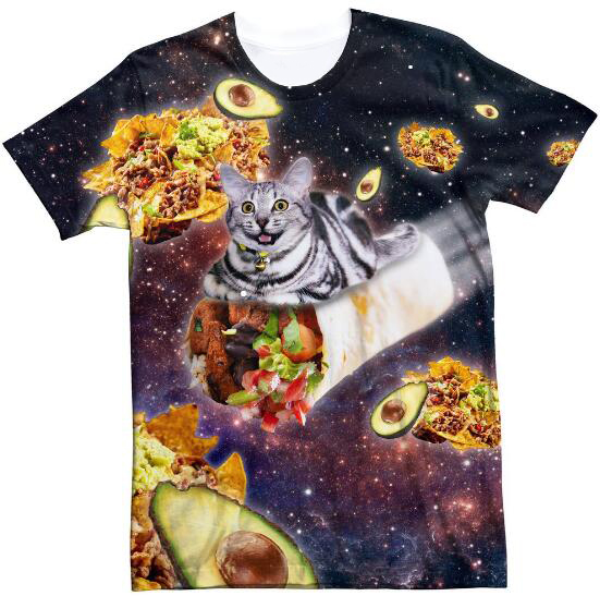 aesthetic hipster tee burrito cat t shirt space tumblr food burrito