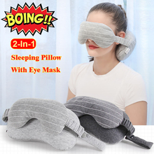 Eye Mask Neck Pillow u-Shaped Pillow Eye Protection Travel Kit Include 2-In-1 Sleeping Pillow With Eye Mask Carrying Bag bear print cami dress with eye mask