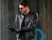 C C Market Top Sheepskin Jackets EMS Men S Genuine Sheep Leather Motorcycle Classics Biker Brand