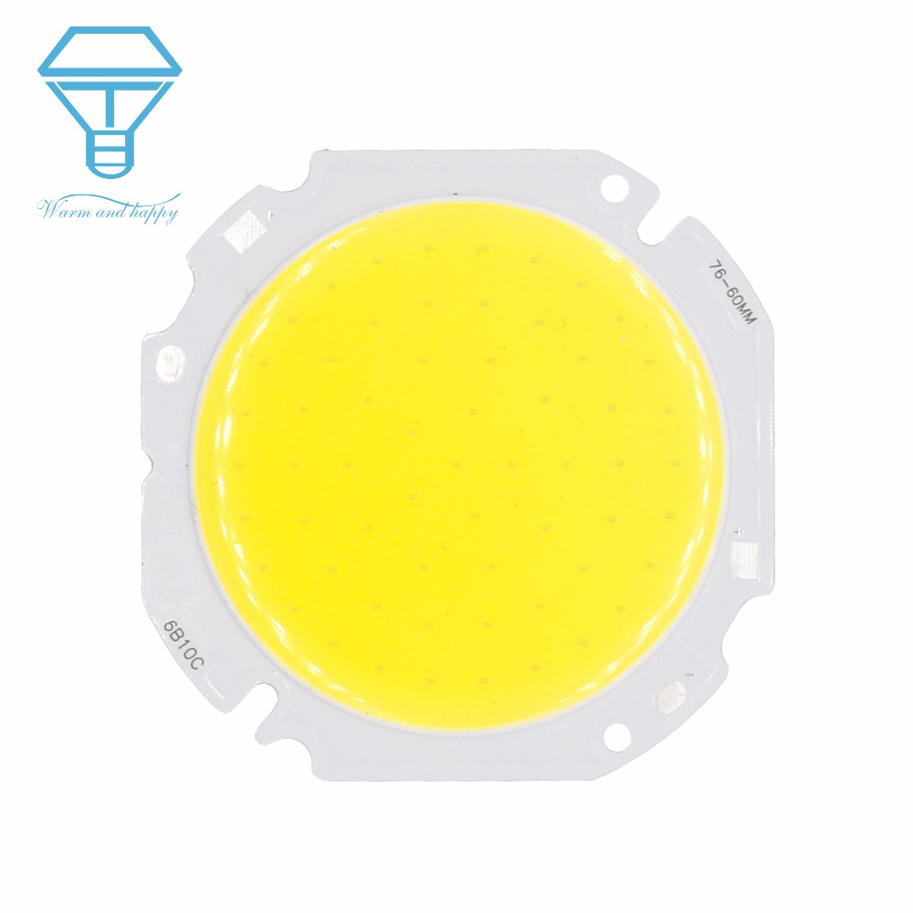 30W 50W High Power LED Round COB Light Beads 30-34V 60MM LED Lamp Bead LED Bulb Chip Spot Light Downlight Diode Lamps Cold White