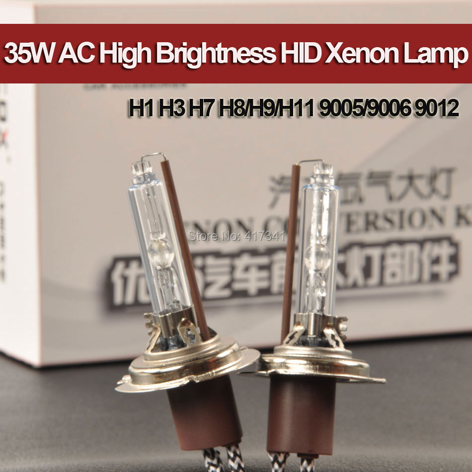 New Arival 35W 12V AC High Quality High Brightness HID Xenon Lamp UV Resistant H1 H3 H7 H8 H9 H11 9005 9006 9012 with Metal Base