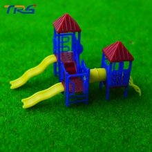 Teraysun 6pcs Model Slide Miniature Playground 1;150 Scale Children Slides for Scenery Layout