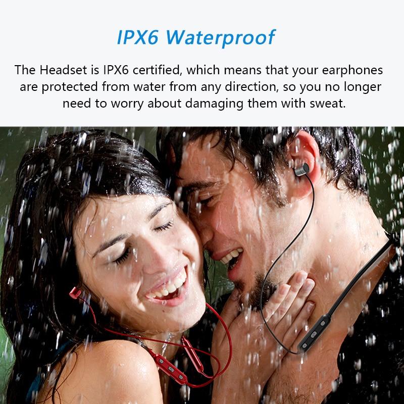 DOUBLEX 2018 New Sports Bluetooth Headphones IPX6 Waterproof Wireless Headset Stereo Bluetooth 4.1 Earphones Earbuds with Mic