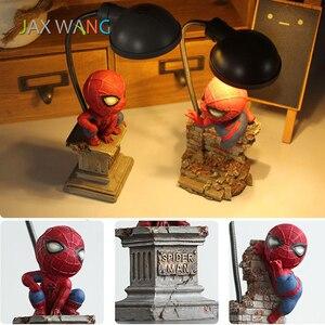 Image 4 - Super Spiderman Avengers Union 3 Led Night Light Resin Craft Kids Home Desktop Table Lamp Figurines Birthday Xmas Wedding Gifts