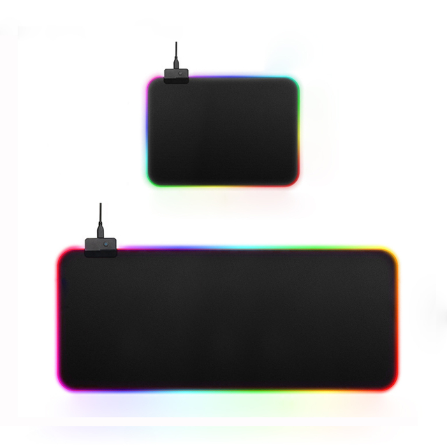 USB Wired Colorful Backlit LED RGB Gaming Mouse Pad Anti-slip Soft Rubber Desktop Mat for Gamer Laptop Computer Mice Mousepad