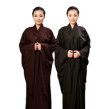 New High Quality Unisex Opaque Cambric Lay Monk Costume Robe Buddhism Uniform
