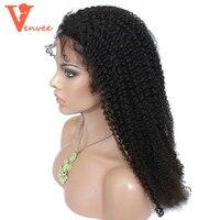 250 Density Mongolian Afro Kinky Curly Silk Full Lace Front Human Hair Wigs For Black Women Silk Base Wigs Virgin Venvee