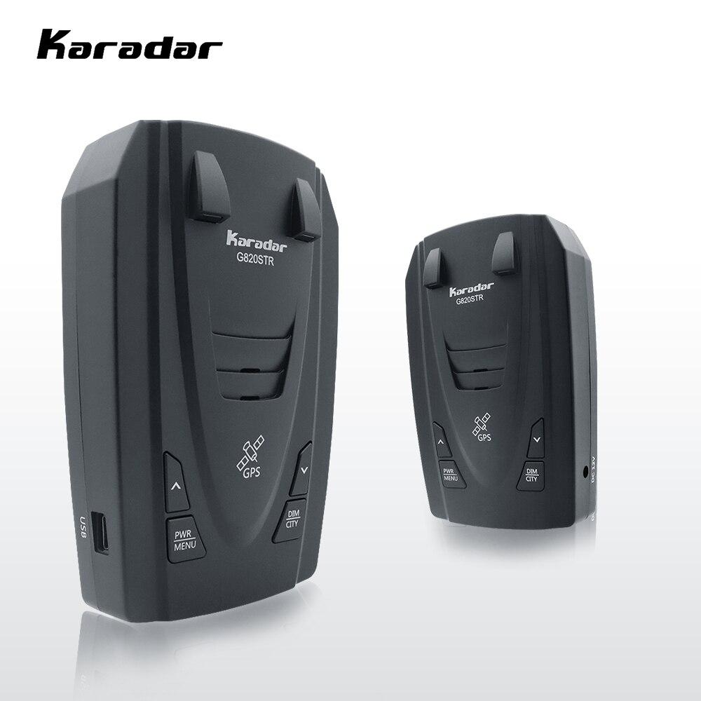 Karadar STR G820 เครื่องตรวจจับเรดาร์ LED 2 ใน 1 เครื่องตรวจจับเรดาร์รัสเซีย GPS รถเรดาร์ตำรวจความเร็ว auto X CT K ...