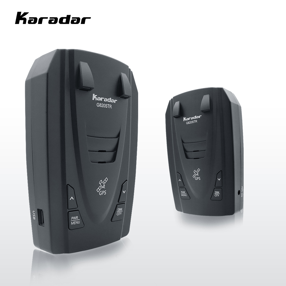 Karadar STR G820 레이더 탐지기 gps와 러시아에 대 한 1 레이더 탐지기에 2 Led 자동차 안티 레이더 경찰 속도 자동 X CT K La