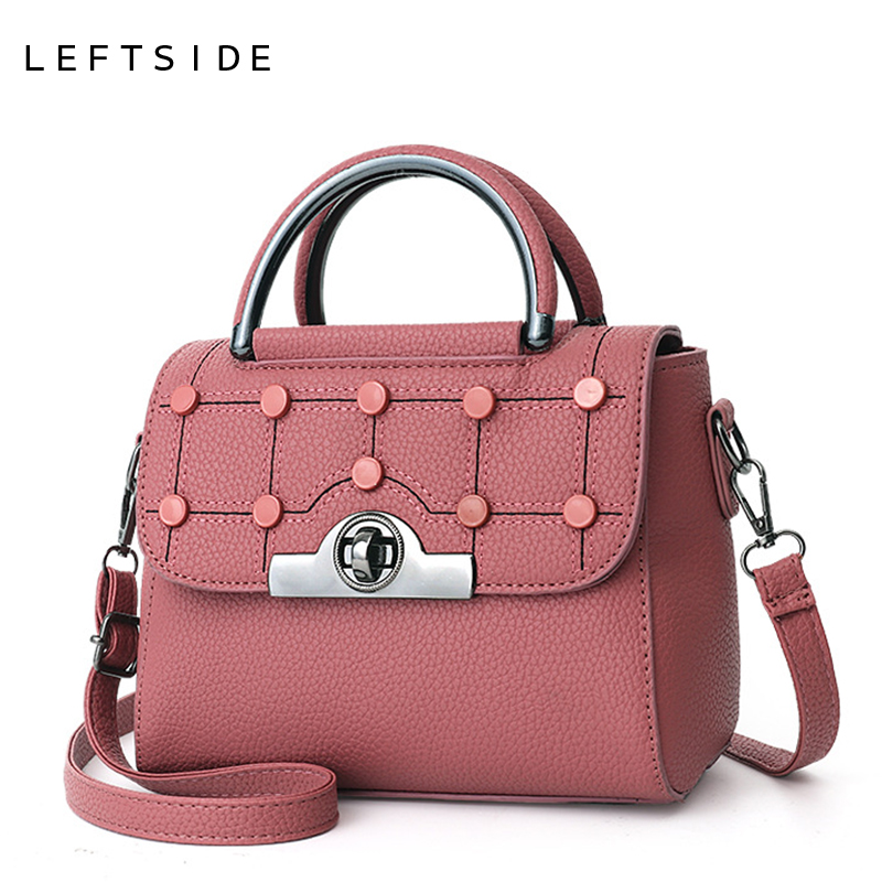 LEFTSIDE Fashion Women Handbags Woman Messenger bags Female PU Leather Crossbody Bag Chain Shoulder Bags High Quality Hand Bag women handbags fashion women messenger bags flap crossbody bag chains shoulder bag high quality pu leather handbag female 2018