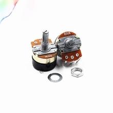 2 шт. WH138-1 потенциометр с диммер переключатель Регулируемая Сопротивление B500K B10K B5K B20K B100K B250K B50K сопротивления