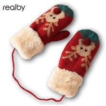 Lovely Mittens For Children Winter Warm Plus Velvet Thicker Children Gloves Hand Warmer Gloves C1923