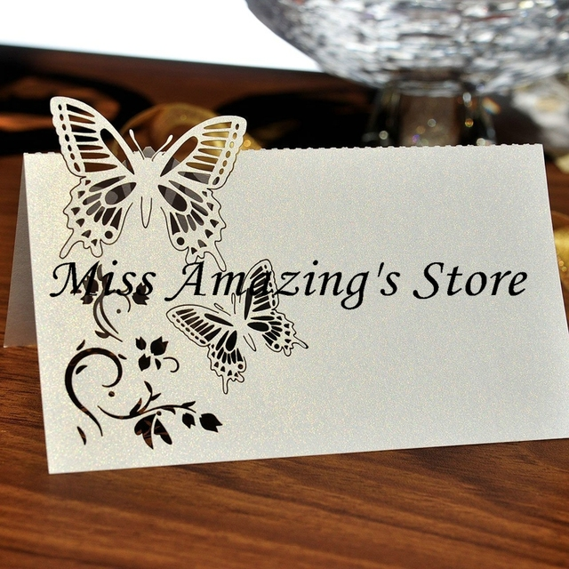50x Butterfly Wedding Birthday Meeting Dinner Table Place Setting