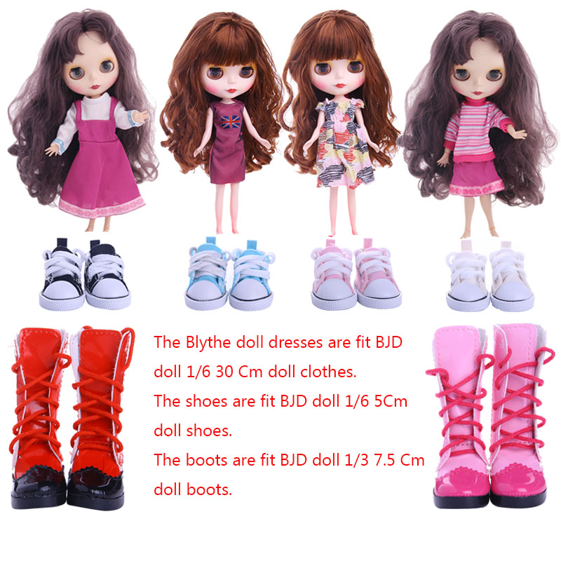 Blyth Doll Dress Shoes Boots Best Premium Dress For Blyth Doll Clothes Toy Dress For BJD Doll 1/6 30 Cm Doll Toy Generation