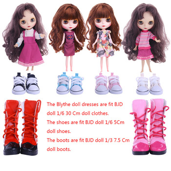 цена на Blyth Doll Dress Shoes Boots Best Premium Dress For Blyth Doll Clothes Toy Dress For BJD Doll 1/6 30 Cm Doll Toy Generation