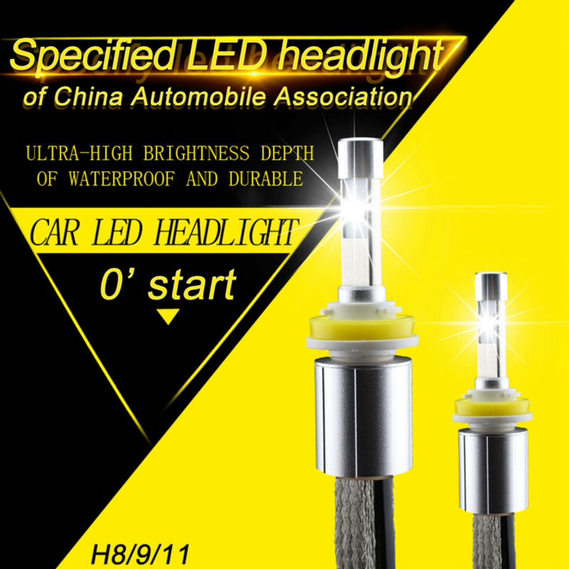 Automobiles & Motorcycles 1pcs 30w 3600lm 6000k Led Headlight Bulbs H8 H9 H11 Led Auto Head Bulb Lamp For Toyota Ford