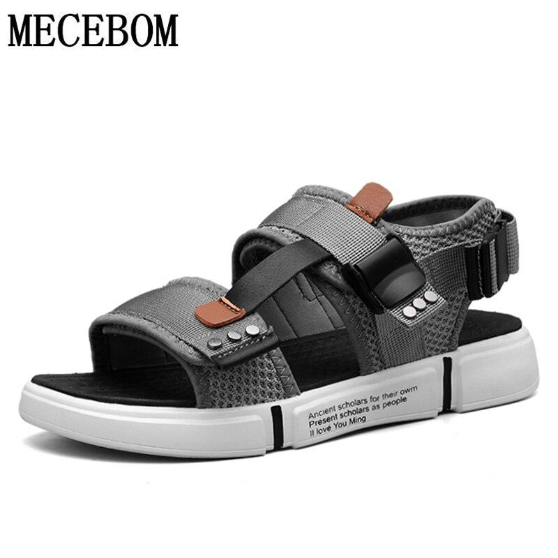 Hot Sale #a47f Summer Men's Canvas Sandals Buckle Design