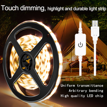 USB Led Strip Light DC 5V Waterproof Kitchen Wall Lamp Tape Ribbon 50CM 1M 2M 3M 4M 5M Fita Neon Dimmable Lighting