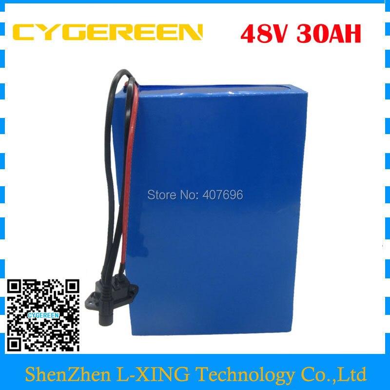 무료 관세 2000W 48V 자전거 배터리 48V 30AH 스쿠터 리튬 이온 배터리 30AH 리튬 배터리 사용 29E 셀 50A BMS