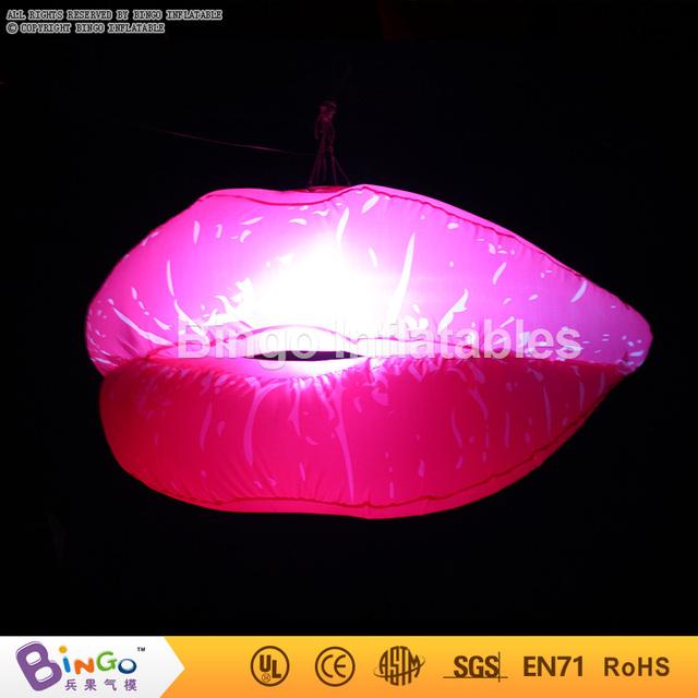 Día de san valentín decoración colgante labio Inflable con iluminación led/1.2 m inflable gigante labios sexy labial BG-A0500 intermitente juguete