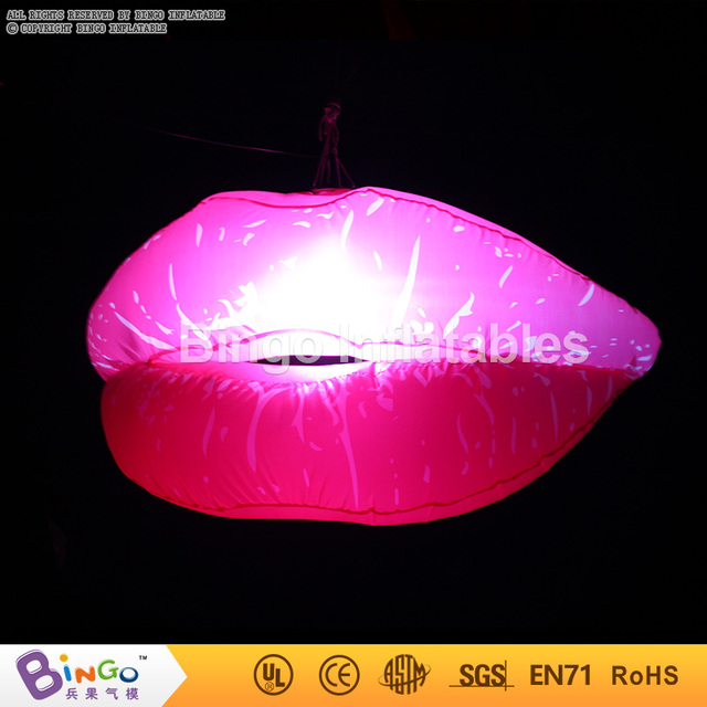 Valentine's Day hanging decoration Inflatable lip with led lighting/1.2m giant inflatable lips sexy lip BG-A0500 flashing toy
