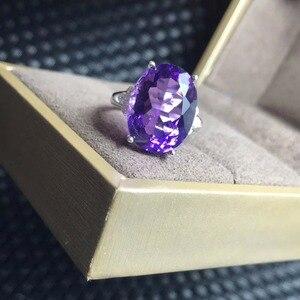 Image 4 - Anel de ametista natural, 7 carat gemas, simples e requintado, prata esterlina 925, artesanato e prático