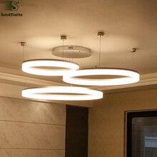 Minimalismo moderno Dimmable Llevó la Luz de la Lámpara luminaria DIY De Aluminio Ajustable Del Anillo de Acrílico Del Techo Lámpara Led
