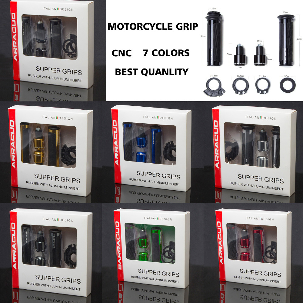 BARRACUDA Motorcycle Handle Grips cnc 22mm For Yamaha Fz6 R1 R3 R6 R15 R25 YZF R1 MT07 MT-09 Tmax 530 XJ6 Ybr HONDA SUZUKI KTM feu led tmax 530