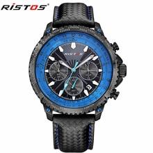 Мода Кварцевые Часы Мужские Часы Лучший Бренд Класса Люкс Мужчины Военный Кожаный Часы Мужчины Хронограф Спортивные Часы relogio masculino