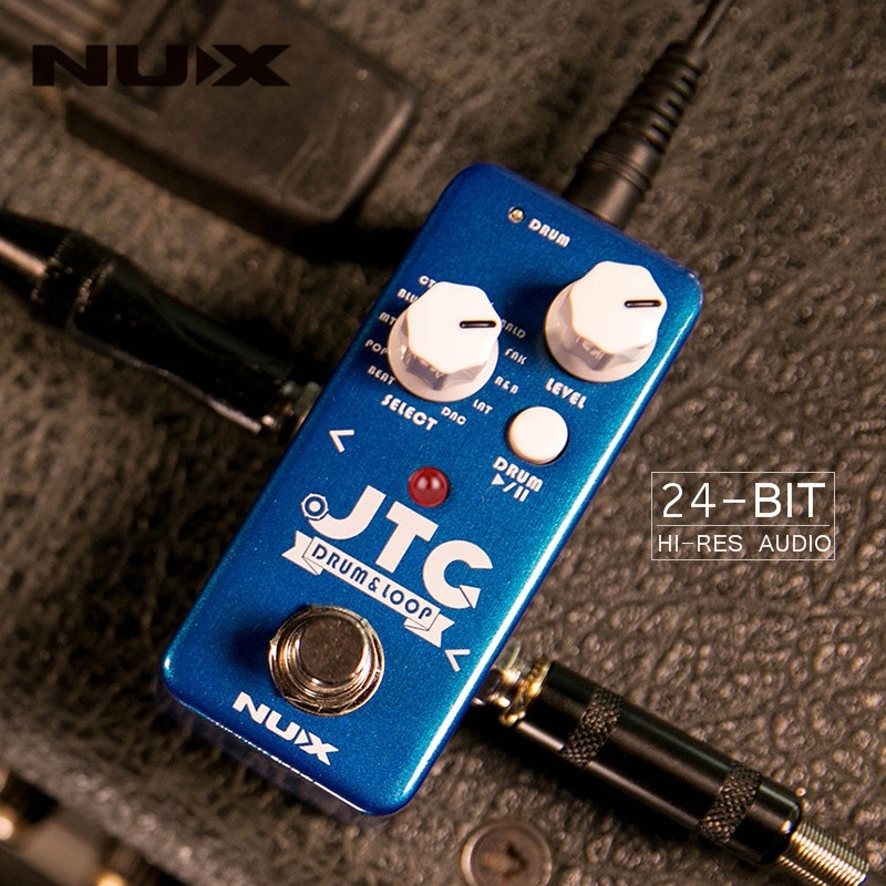 NUX NDL-2 JTC Drum Loop Guitar Effect Pedal Looper 6 Minutes Recording Time 10 Drum Rhythms Smart Tap Tempo Drum Machine hand made loop electric guitar effect pedal looper true bypass 3 looper switcher guitar pedal hr 1