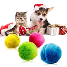 2019 hottest Practical Magic Roller Ball Toy Nontoxic Safe Automatic Dog Cat Pet Interactive 4 Colors
