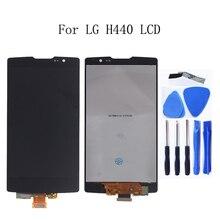3G 4G LTE H440 สำหรับ LG SPIRIT จอแสดงผล LCD Touch Screen Digitizer ASSEMBLY สำหรับ LG H440 H442 H422 h440N C70 เปลี่ยนกรอบ