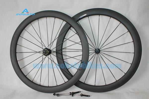 23mm width 50mm clincher carbon bike wheels 700c carbon road racing wheelsets 3k Matte