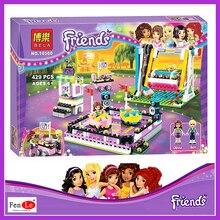 Совместимый с друзьями 10560 принцесса эльфов парк развлечений бампер автомобили Строительные блоки классика для девочек детские игрушки