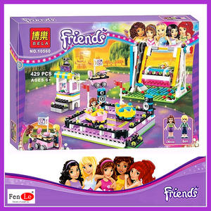 compatible with Friends 10560 Elves Princess Amusement Park Bumper Cars Building Blocks Classic For Girl Kids Toys Marvel