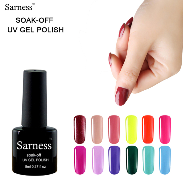 Sarness Hybrid Nail Polish Professional Nail Gel Polish Soak Off UV ...