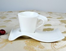 China Bone ceramic coffee cup and saucer set 300-400ML Ceramic /mug (one include one saucer)