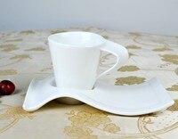 China Bone ceramic coffee cup and saucer set 300 400ML Ceramic cup (one set include one cup and one saucer)