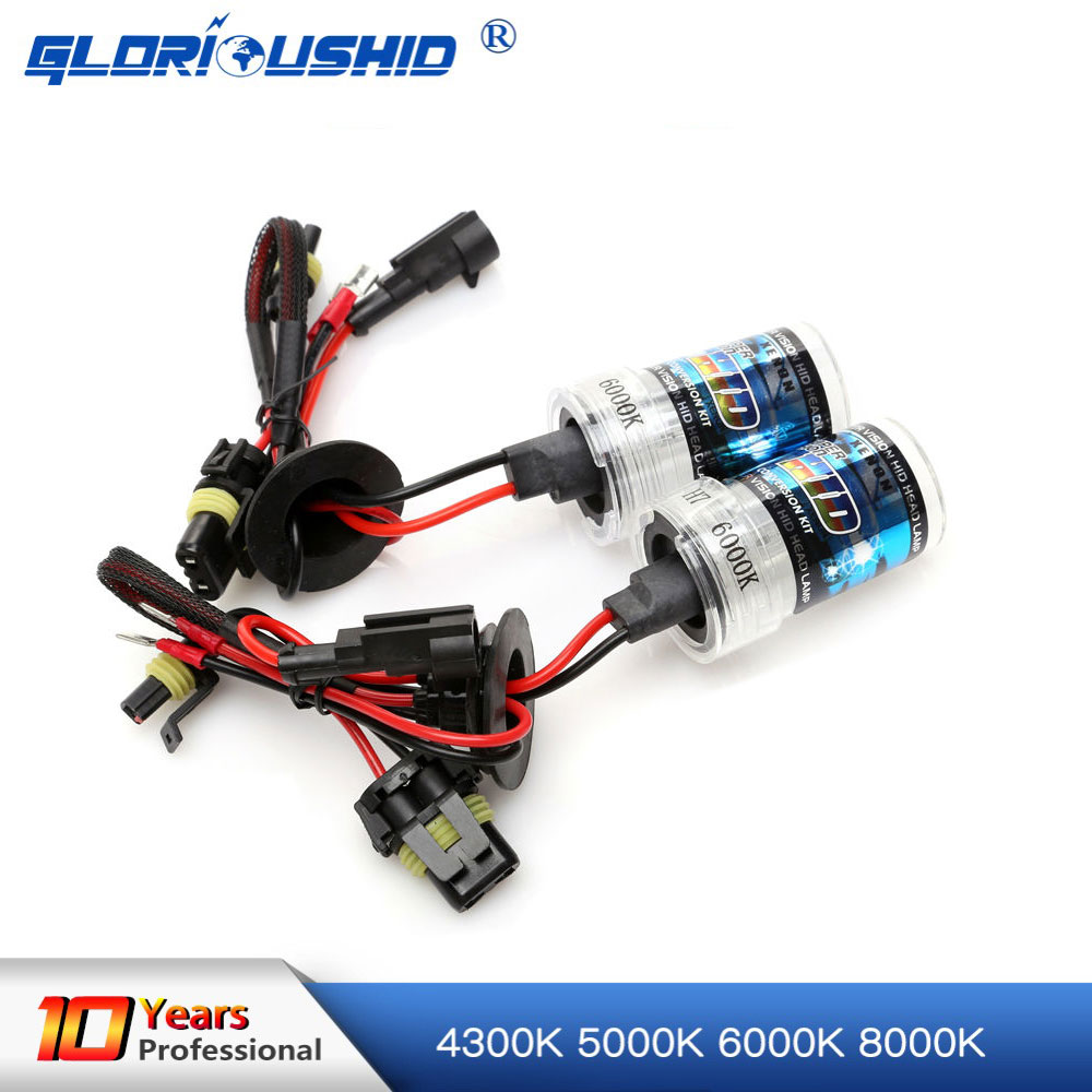 A pair 35W xenon lamp replacement for Car Xenon headlight H1 H3 H7 H8 H9 H11 9005 9006 H27 881 4300K 6000K 8000K xenon bulb gcu 20 generator control unit solid thai also means kutai generator control unit