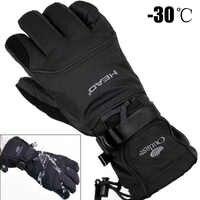 2019 gants de Ski pour hommes polaire Snowboard gants motoneige moto équitation hiver gants coupe-vent imperméable unisexe neige gants