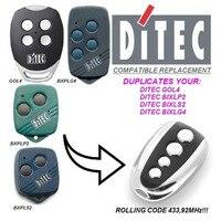 Ditec GOL4 BIXLG4 BIXLP2 BIXLS2 Compatible Remote Control Transmitter Clone