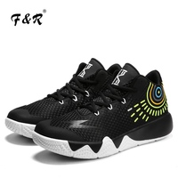 F&R 2018 New Arrival Men Women Kyrie Basketball Sneakers Couple Cement Floor Non slip Sport Shoe Lightning Man Footwear 4 36 45