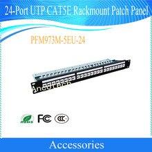 Free Shipping Original Dahua Security Products 24-Port UTP CAT5E Rackmount Patch Panel No Logo CCTV Accessories PFM973M-5EU-24