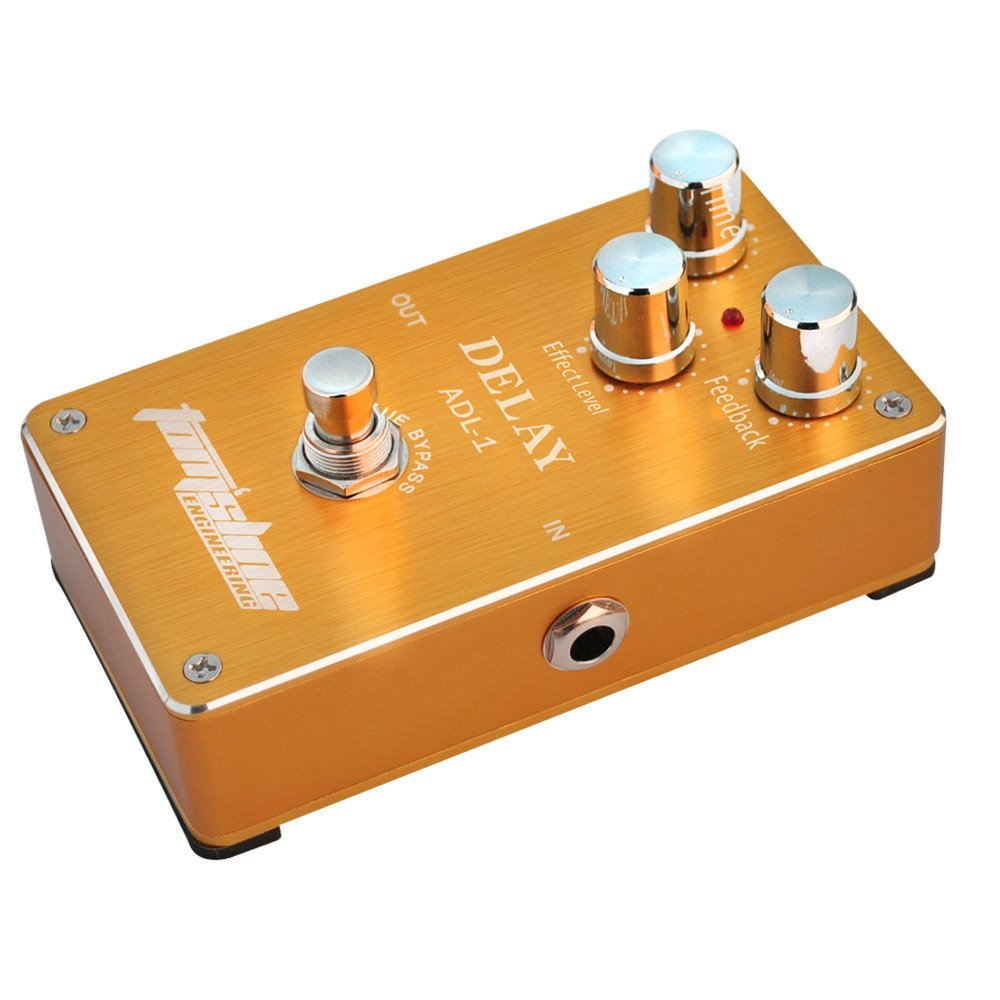 Aroma TomSline ADL-1 Delay Electric Guitar Effect Pedal True Bypass with Aluminum Alloy Housing aroma tom sline abr 3 mini booster electric guitar effect pedal with aluminum alloy housing true bypass durable guitar parts