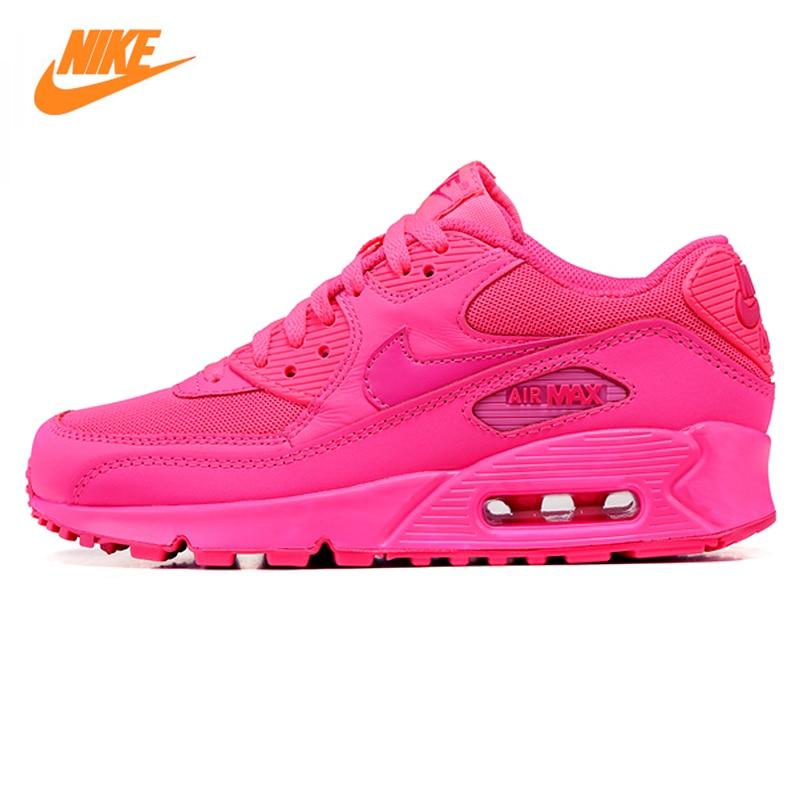 Nike Air Max 90 delle Donne Traspirante Runningg Scarpe Originale Delle Donne di Sport Scarpe Da Ginnastica Rosa Scarpe 345017-601