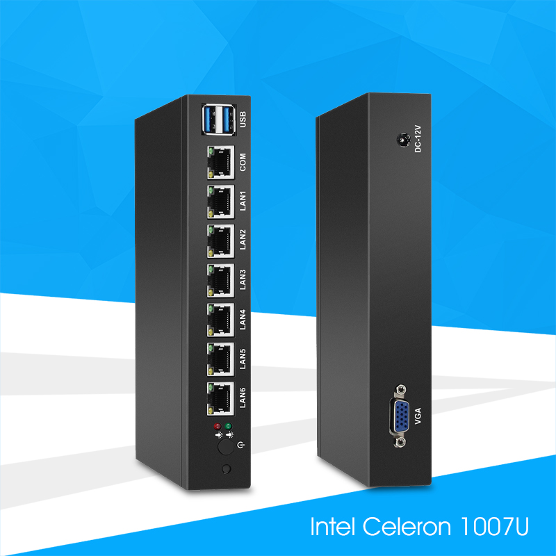 Mini PC with 6x 1000Mbps Gigabit LAN Intel 82583V NIC Multiple Ethernet Ports Serial COM VGA USB 3.0 Soft Router IPC Pfsense motivi motivi mo042ewjim33