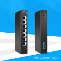 Mini PC With 6x 1000Mbps Gigabit LAN Intel 82583V NIC Multiple Ethernet Ports Serial COM VGA